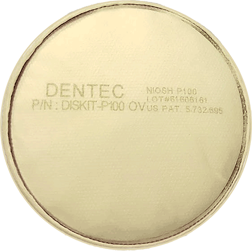 Dentec Safety Diskit® P100OV NIOSH Approved for Certain Oil/Non-Oil Based Particle Filter - 10 Pack