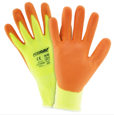 West Chester Yellow Hi-Vis HPPE Orange Foam Nitrile Palm Coated Gloves