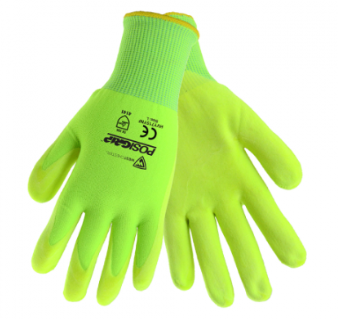 West Chester Yellow Hi-Viz Nitrile Microfoam Air Palm Coated Gloves