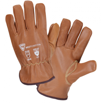 West Chester Oil Armor Finish Goatskin Leather Driver Kevlar & Winter Lined Gloves