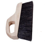 "Magnolia Brush Black Horsehair/Poly 3"" Trim Hand Held Concrete Finishing Brush"