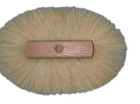 "Magnolia Brush 8-1/2"" White Tampico Crowsfoot Texture Oblong Brush"