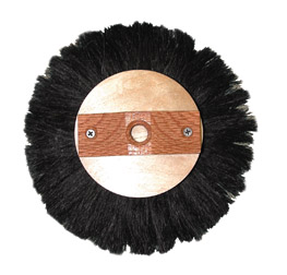"Magnolia Brush 8"" Black Horsehair Crowsfoot Texture Round Brush"