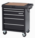 Waterloo Specialty Series 5-Drawer Project Center with Power- Black
