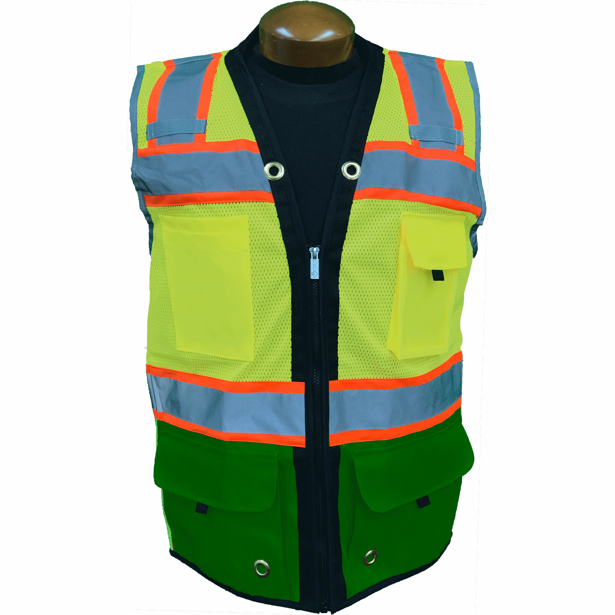 Premium Two Tone Surveyor Vest - Hunter Green