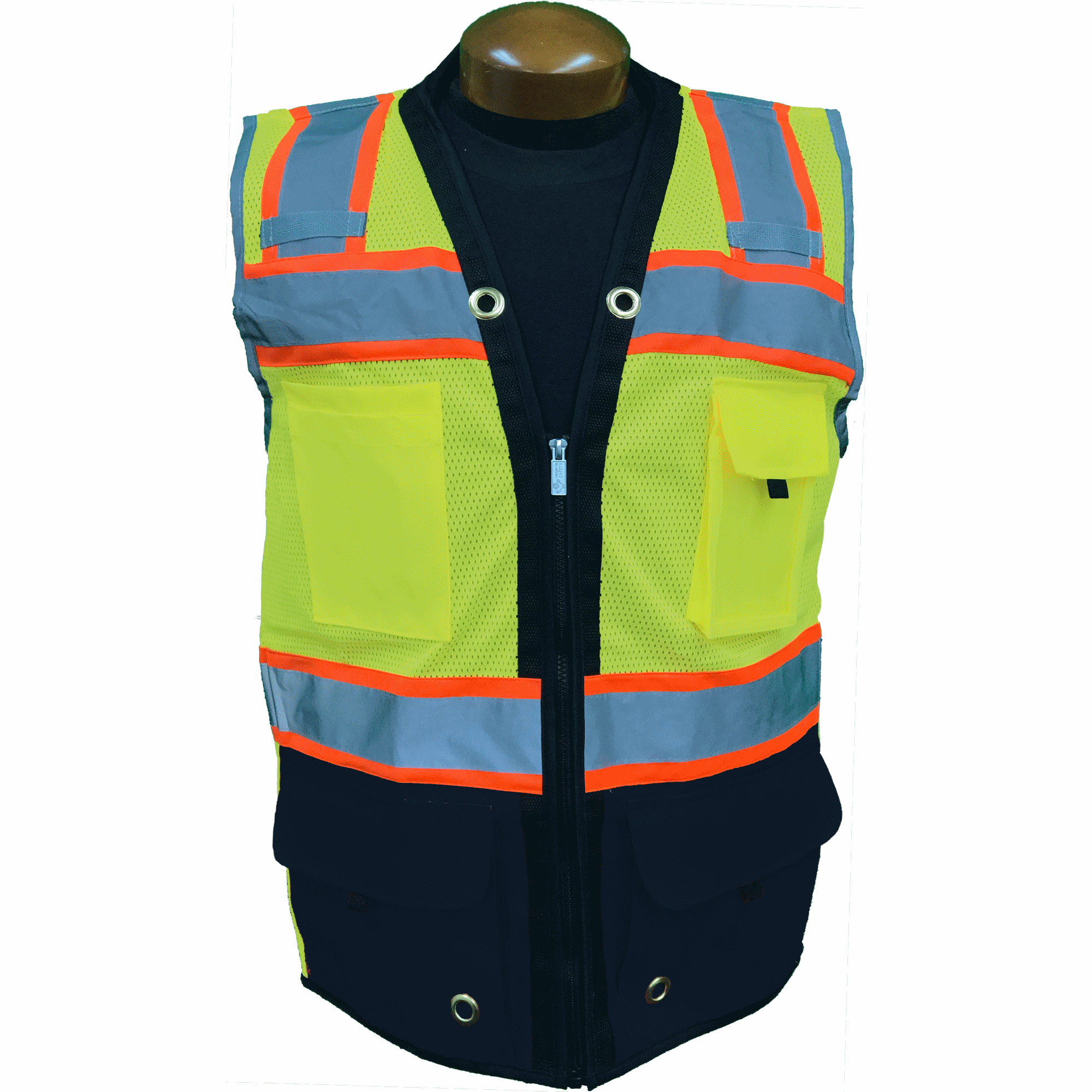 Premium Two Tone Surveyor Vest - Black