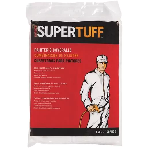 LARGE SUPERTUFF™ POLYPROPYLENE PAINTER'S COVERALLS WITH ELASTIC BACK AND WRISTS