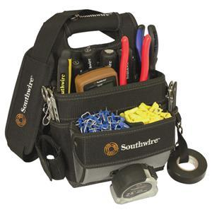 Southwire Electrician Shoulder Pouch, 16-Pocket