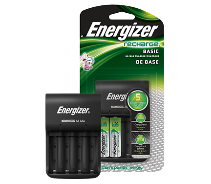 Energizer® Recharge® Basic Charger (For AA/AAA Batteries)