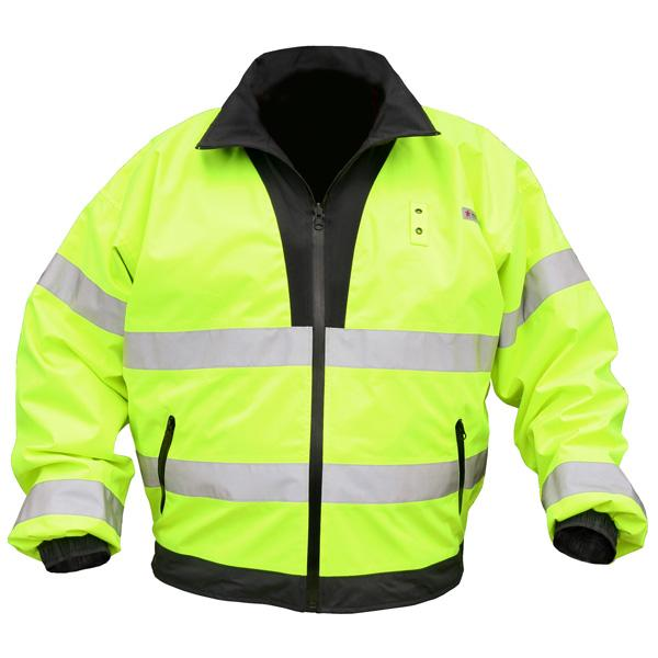 MCR Safety Luminator™ Reversible Lime Polyurethane/Cotton Polyester Class 3 Waterproof Bomber Jacket