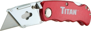 Titan Folding Utility Knife - Red