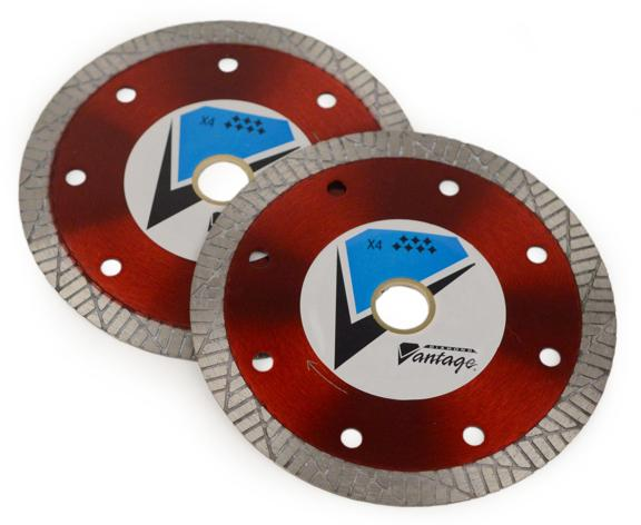 4.5 X .050 X 7/8-5/8  Diamond Vantage Walk Behind Saw Blade- X4 Thin Turbo (Dry) Series