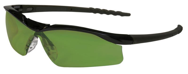f1c35dcc251c MCR Safety Dallas 3.0 Polished Black Frame Filter Lens Welding Glasses