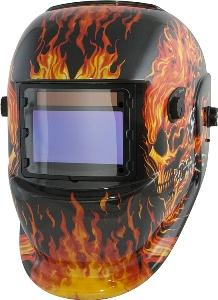 Titan Solar Powered Auto Dark Welding Helmet- Flames