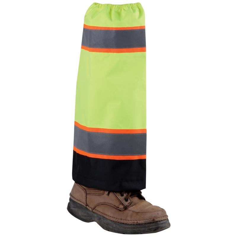 Lime Waterproof High Viz Gaiters