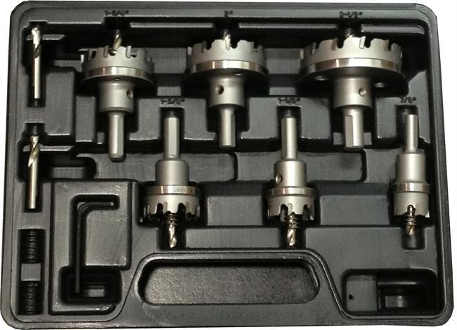 "Electricians Carbide Tipped Hole Cutter Set, 3/16"" Depth of Cut"