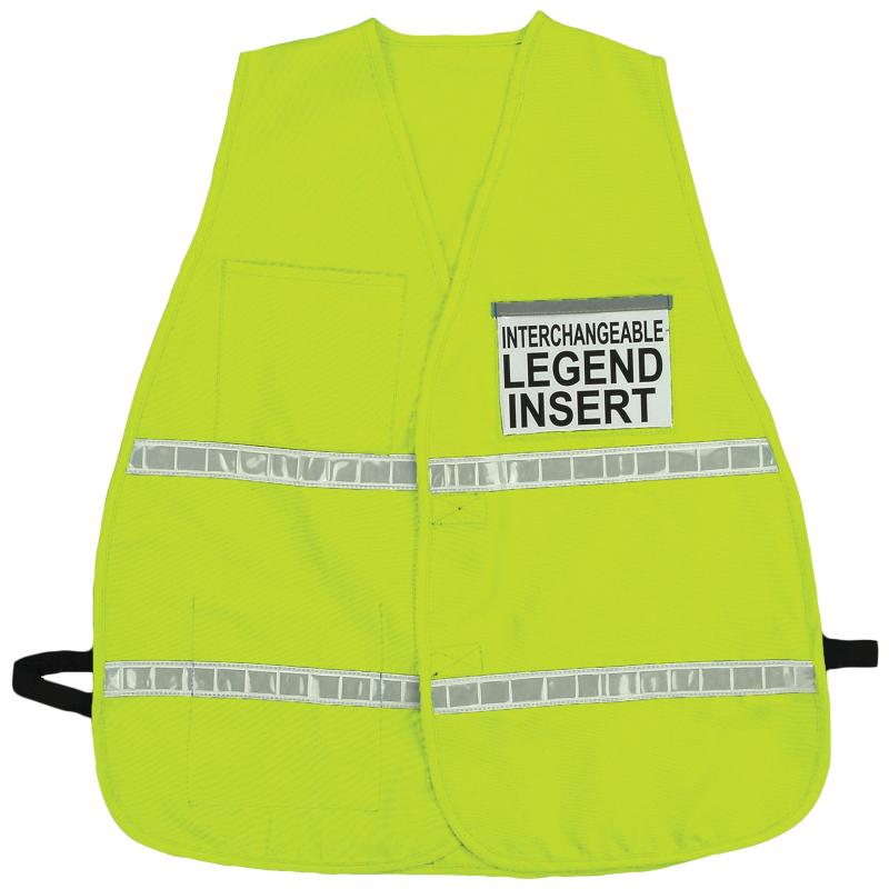 "Incident Command Vest 1"" Reflective Stripe / Yellow-Lime"