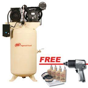 Ir 2475n7 5 vts electric driven two stage 80 vertical 7 for Ingersoll rand air compressor motor starter