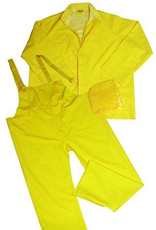 Ironwear 9200-Y .35mm PVC/Polyester fabric 3 Piece Rain Suit