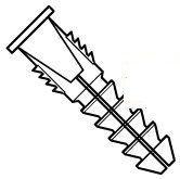 Ribbed Super 4 Way Plastic Anchor