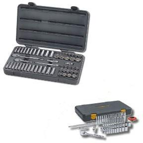 "GearWrench  57pc. 3/8"" Drive 6 Point SAE/Metric Socket Set With 51pc. 1/4"" Drive 6 Point SAE/Metric Socket Set"