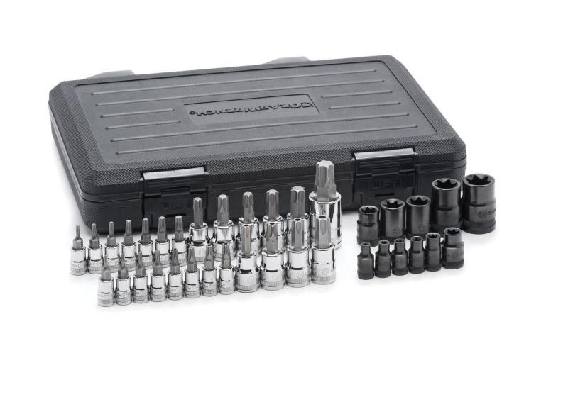 "GearWrench 36pc. 1/4"", 3/8"", 1/2"" Drive Torx Bit Socket Set"