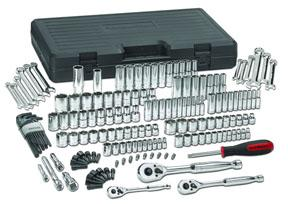 GearWrench 165pc. Mixed Drive 6 & 12 Point SAE/Metric Mechanics Tool Socket Set