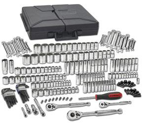 GearWrench 216pc. Mixed Drive 6 & 12 Point SAE/Metric Mechanics Tool Socket Set