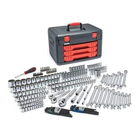 "GearWrench 239c. 1/4"", 3/8"", & 1/2"" Drive Metric/SAE Socket & Ratchet Set W/ Storage Box"