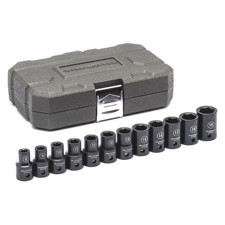 "GearWrench 1/2"" Drive 12pc. 6 Point Metric Standard Impact Socket Set"