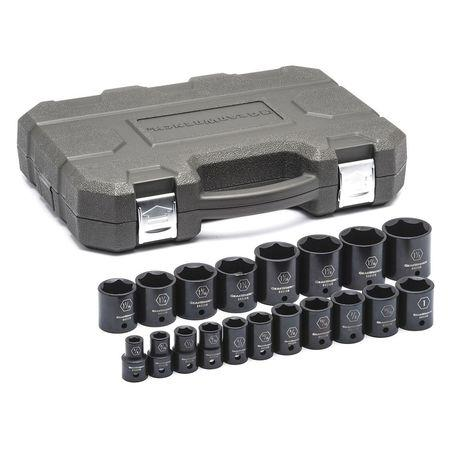 "GearWrench 1/2"" Drive 19pc. 6 Point SAE Standard Impact Socket Set"