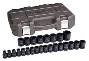 "GearWrench 1/2"" Drive 25pc. 6 Point Metric Standard Impact Socket Set"