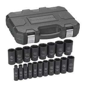 "GearWrench 1/2"" Drive 19pc. 6 Point SAE Deep Impact Socket Set"