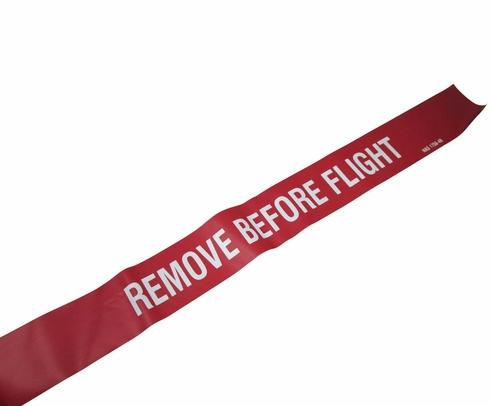 "National Aerospace Standard NAS1756-48 Red-White 48"" Remove Before Flight Streamer"