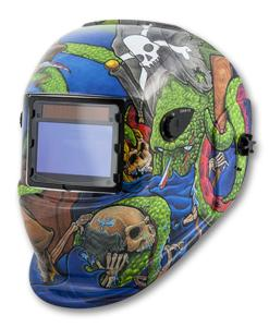 Titan Solar Powered Auto Dark Welding Helmet- Pirate