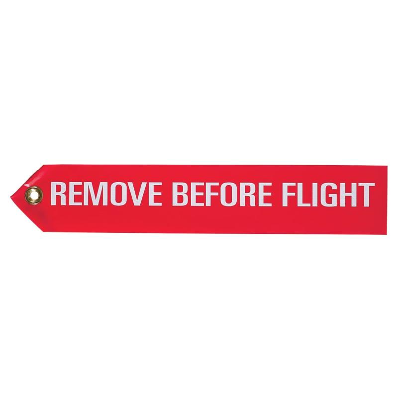"National Aerospace Standard NAS1756-12 Red-White 12"" Remove Before Flight Streamer"