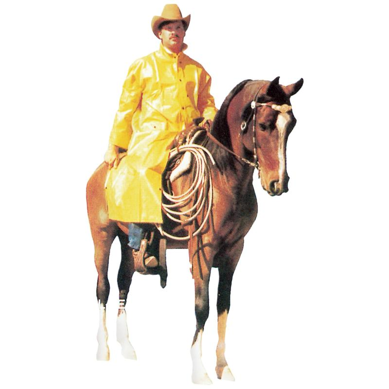 PVC on Polyester Riding Coat, Yellow