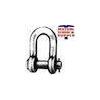 Chain Drop Forged Round Pin Galvanized Shackles Made in USA