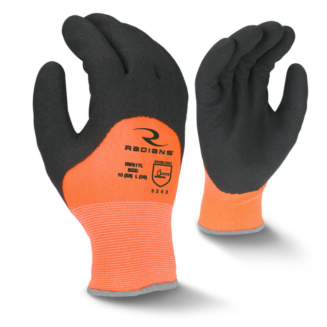 Radians Orange Latex Coated Cold Weather Gloves