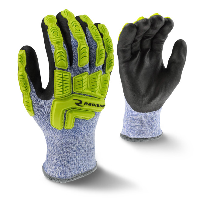 Radians Blue & White A4 Cut Protection HPPE Coated Cold Weather Gloves