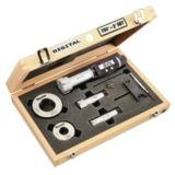 "Starrett Electronic Internal Bore Micrometer Set 3/4""-2"" (20-50mm) Range, .00005"" (0.001mm) Resolution With 3 Point Contact"