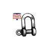 Chain Drop Forged Screw Pin Self Colored Shackles Made in USA
