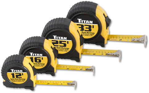 Titan 4 pc. Tape Measure Set