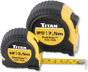 Titan 2 pc. Combo Dual Rule Tape Measure Set