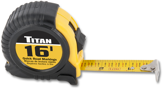 Titan 16ft Tape Measure