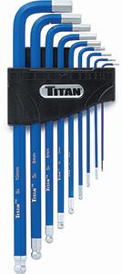 Titan 9pc. MM Non Slip Hex Key Set