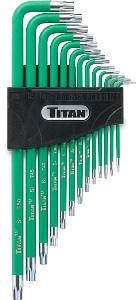 Titan 13pc. Tamper Resistant Star Key Set
