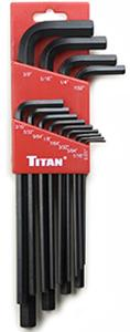 Titan 13pc. SAE Long Arm Hex Key Set