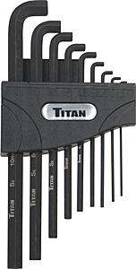 Titan 9pc. Metric Stubby Hex Key Set