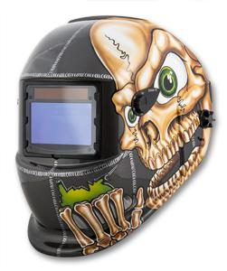 Titan Solar Powered Auto Dark Welding Helmet- Skull